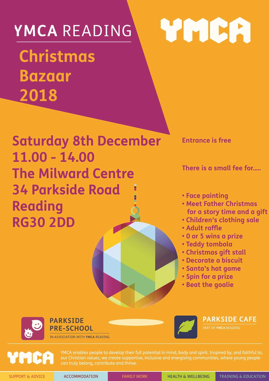 YMCA Reading Christmas Bazaar 2018 Poster